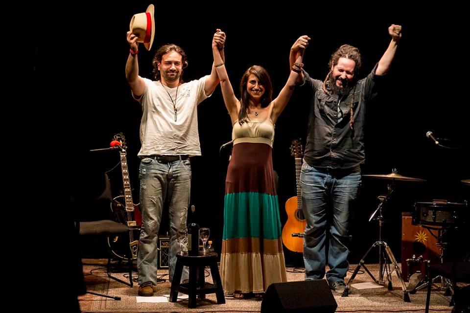 Théo, Anabel e Frã no Teatro da Rotina (21.10.2016)