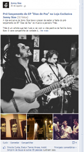 Álbum na Fan Page Oficial da Jonny Size