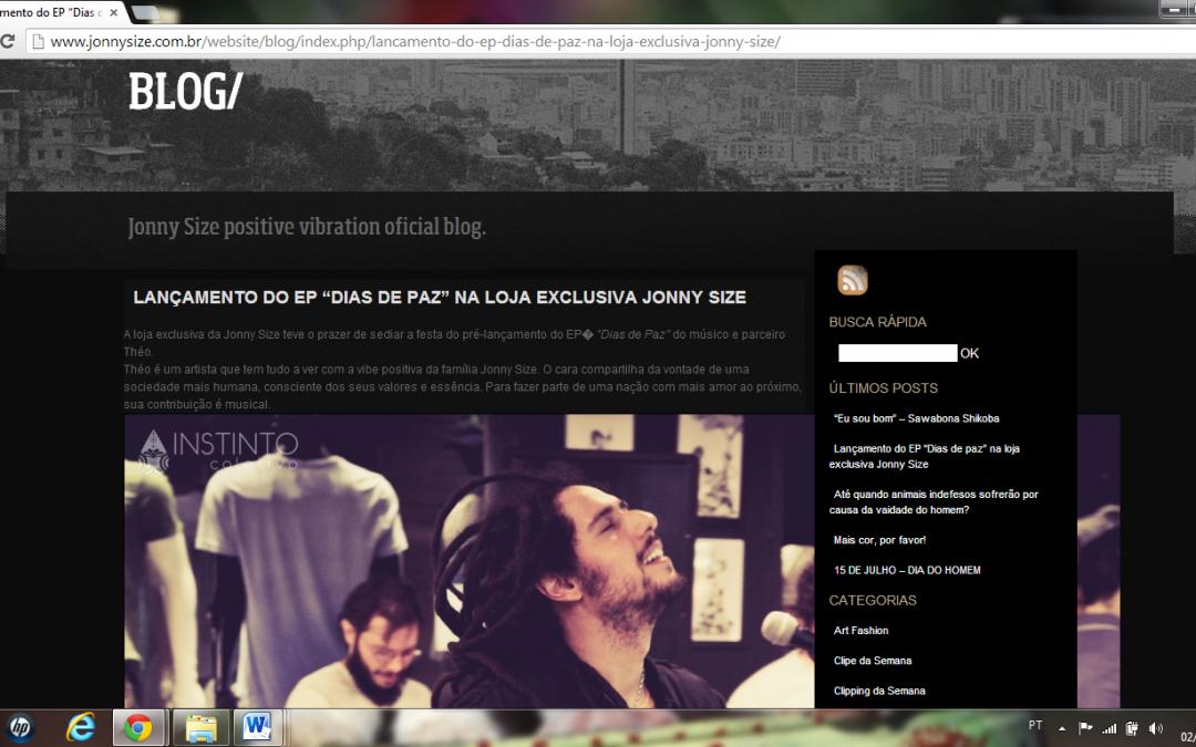 Pré-lançamento do EP divulgado nas redes oficiais da Jonny Size
