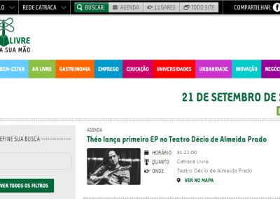 Shows de lançamento do EP na agenda do Catraca Livre