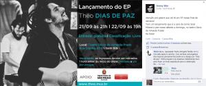 Flyer dos shows de lançamento do EP na Fan Page da Jonny Size