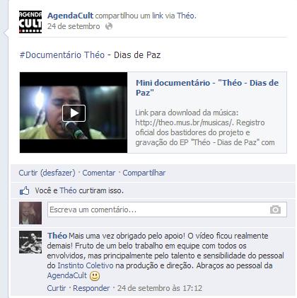 """AgendaCult compartilha mini documentário """"Théo - Dias de paz"""""""