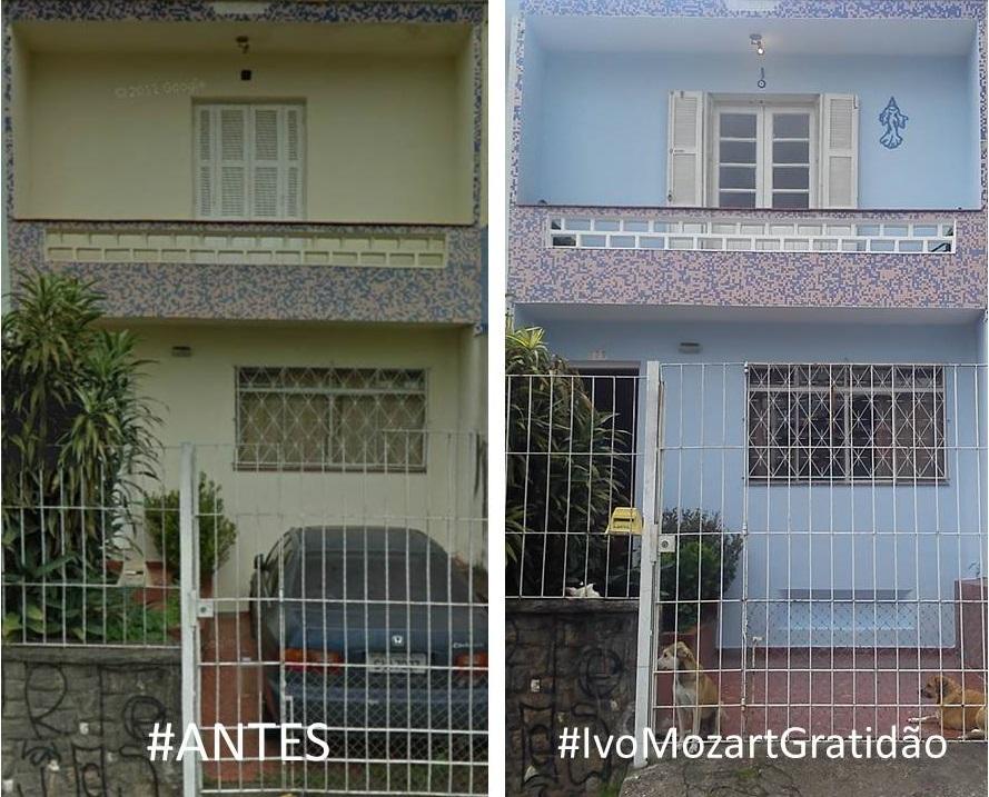 O antes e o depois da casa da Érica. #IvoMozartGratidão