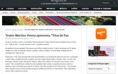 """Show """"Dias de Paz"""" no portal Agito SP"""
