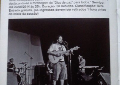 Show na programação do Centro Cultural Penha