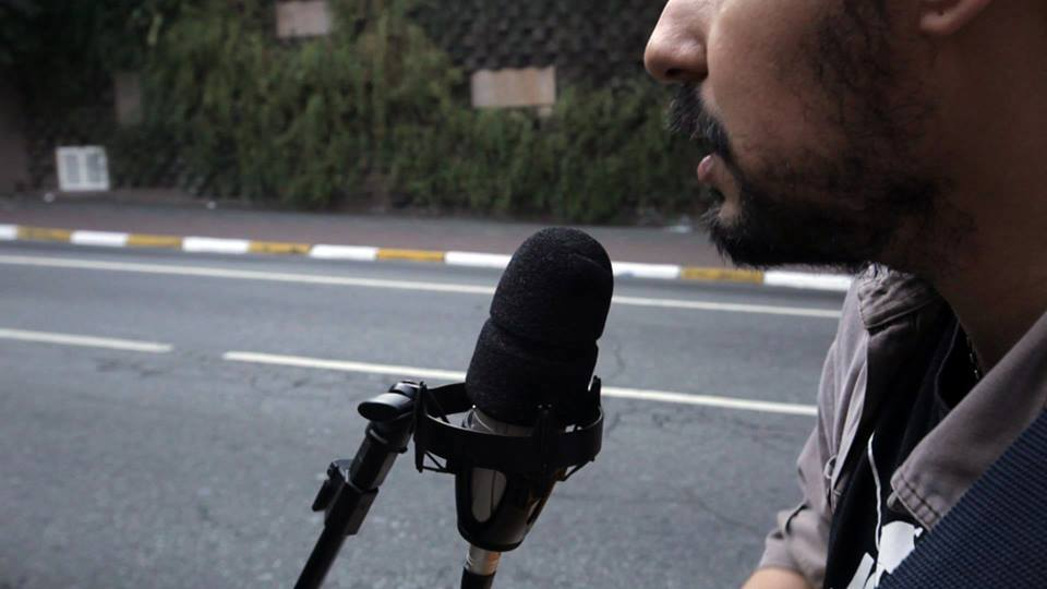 """Registro da participação de Théo no projeto """"Na Rua"""""""