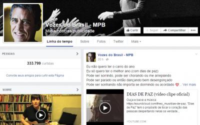 """Clipe """"Dias de Paz"""" na página Vozes do Brasil – MPB"""