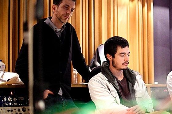 Felipe Sima e Tiago Iorc na Som Livre em 2012 / Foto por Diego Padilha