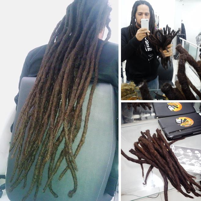 Depois de oito anos aparei o cabelo / Foto: Klebão Dreadmaker.