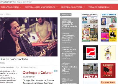 Show de lançamento do EP na Gazeta Virtual